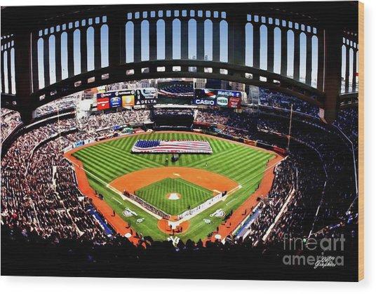 Opening Day Yankee Stadium Wood Print
