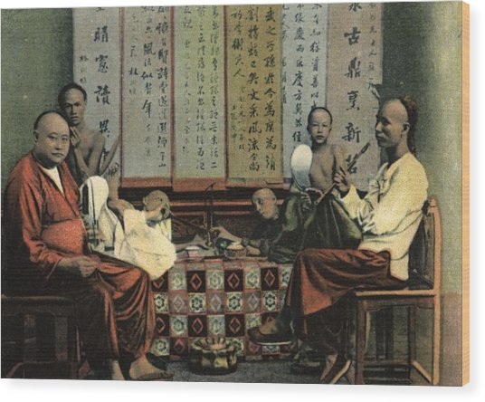Opium Den Wood Print by Hulton Archive
