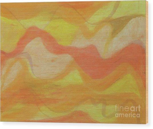 Orange Colors 1 Wood Print