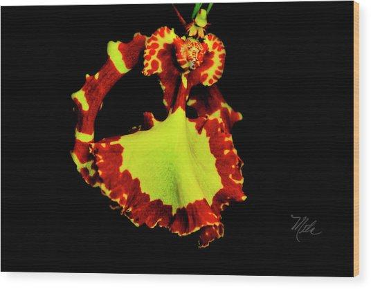 Orchid Study Nine Wood Print