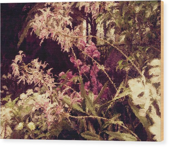 Orchids In The Atrium Wood Print