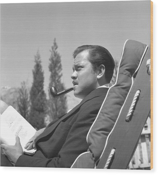 Orson Welles Wood Print by Earl Theisen Collection