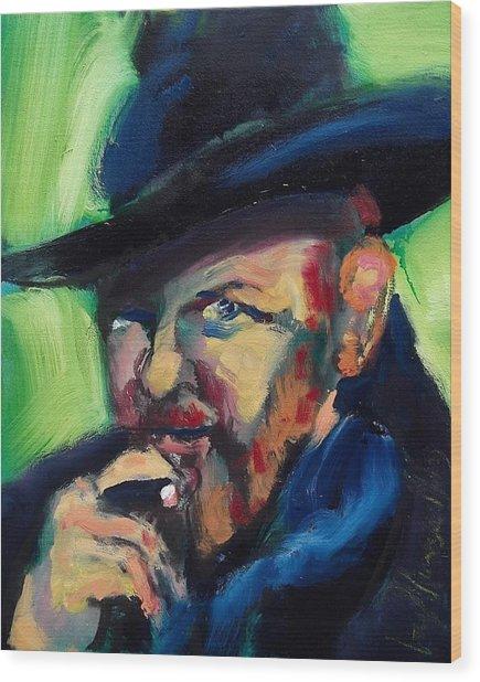 Orson Welles Wood Print