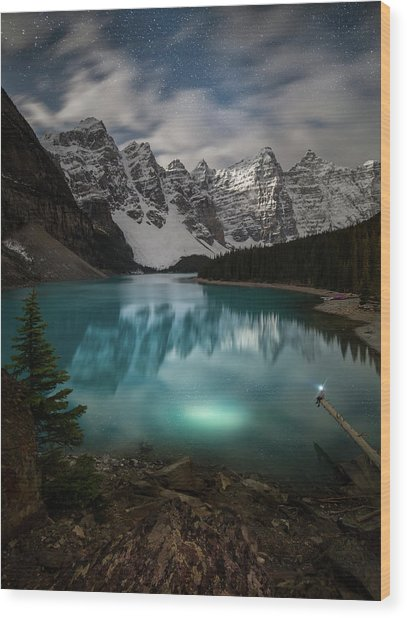 Otherworldly / Moraine Lake, Alberta, Canada Wood Print