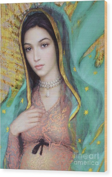 Our Lady Of Guadalupe, 1/2 Wood Print