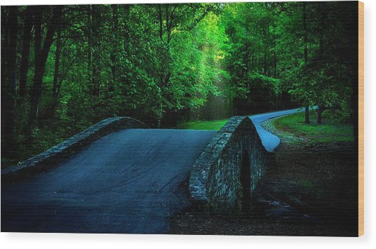 Over The Bridge And Through The Woods Wood Print