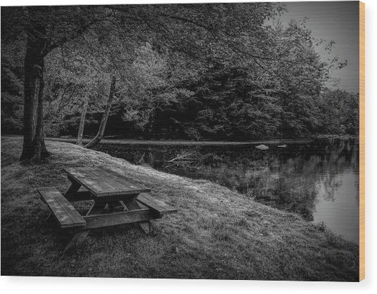 Overlooking The Sugar River Wood Print