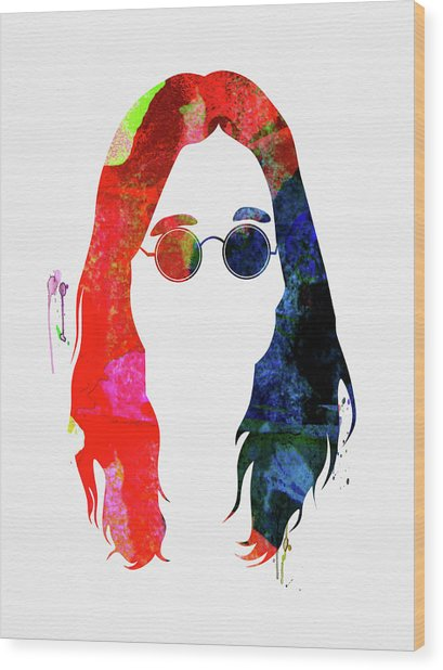 Ozzy Watercolor Wood Print