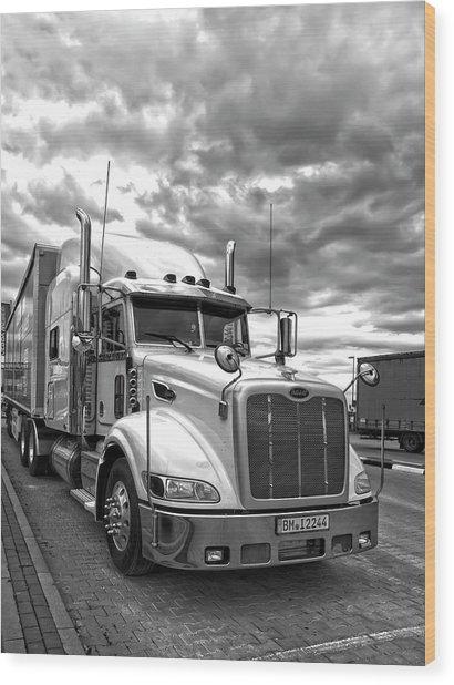 P E T E R B I L T Truck . . . On The Road Wood Print