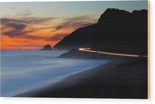 Pacific Coast Highway Wood Print