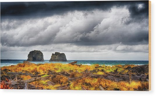 Pacific Storm  Wood Print