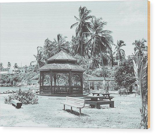 Pagoda On The Sea Wood Print