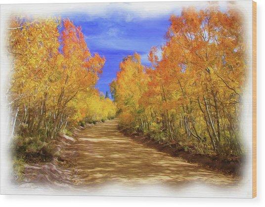 Painted Aspens Wood Print