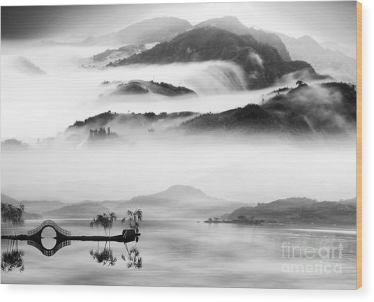 Painting Style Of Chinese Landscape For Wood Print