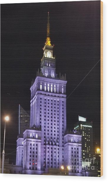 Palace  Of Culture And Science  Wood Print
