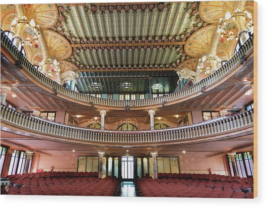 Palau De La Musica In Barcelona Wood Print