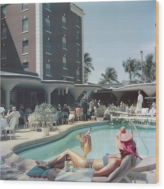 Palm Beach Wood Print by Slim Aarons