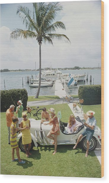 Palm Beach Society Wood Print