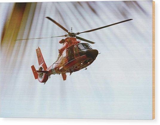 Palm Chopper Wood Print