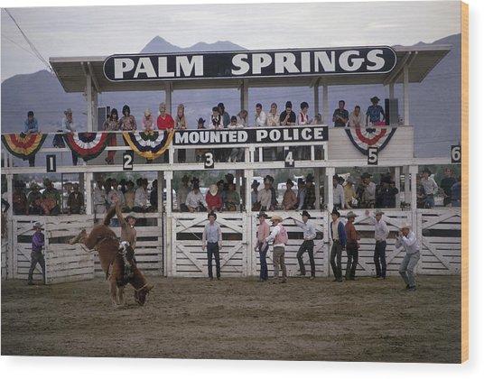 Palm Springs Rodeo Wood Print by Slim Aarons