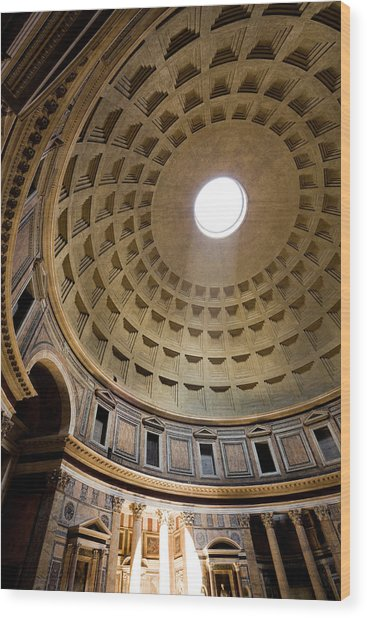Pantheon Rome Italy Wood Print
