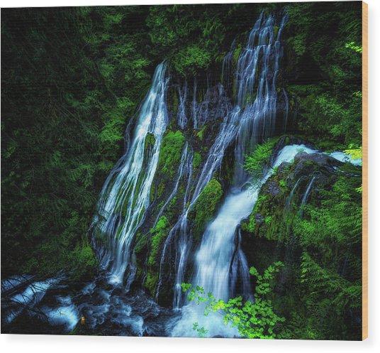 Panther Creek Falls Wood Print