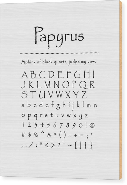 Papyrus - Most Wanted Wood Print