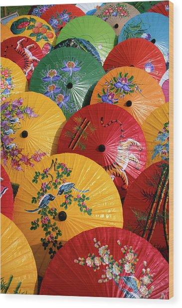 Parasols Wood Print by Buena Vista Images