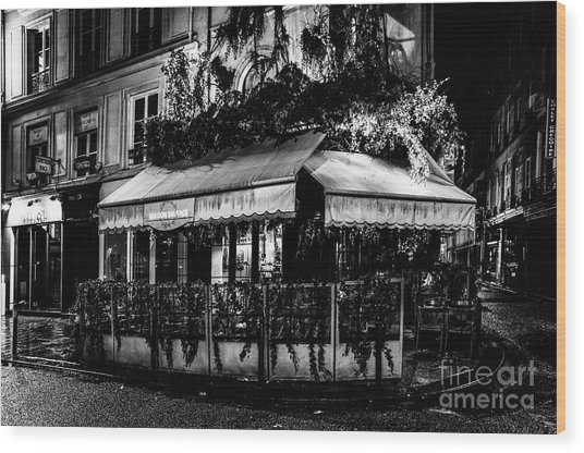 Wood Print featuring the photograph Paris At Night - Rue De Buci by Miles Whittingham