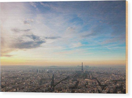 Paris Atmosphere Wood Print by John And Tina Reid