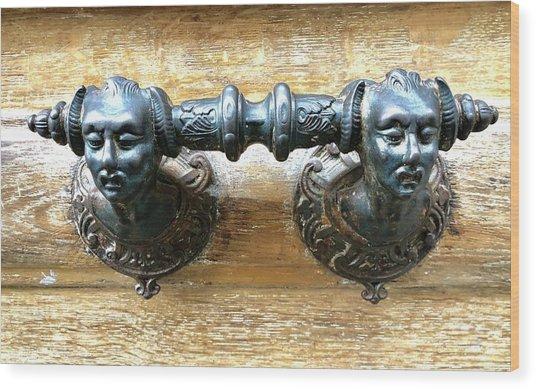Paris Door Handle Wood Print
