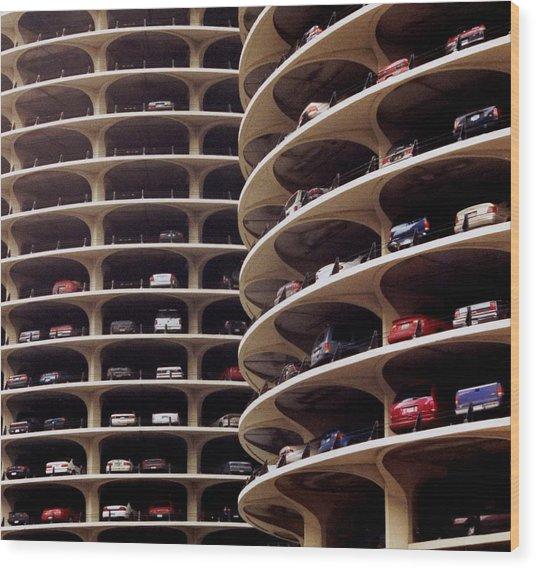 Parking Wood Print by Cybergabi