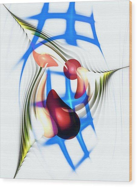 Wood Print featuring the digital art Parkour by Anastasiya Malakhova