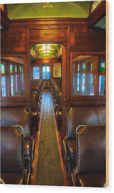Passenger Train Memories Wood Print