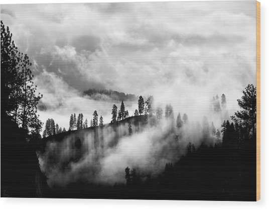 Passing Storm Central Idaho Mountains Wood Print