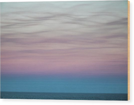 Pastel Clouds Wood Print