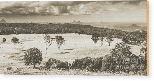 Pastoral Plains Wood Print