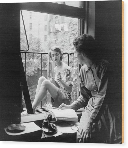 Patchet & Ford Wood Print by Nina Leen