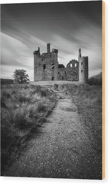 Path To Kilchurn Castle Wood Print