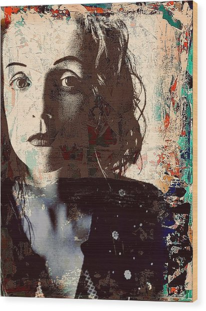Patty Griffin Wood Print