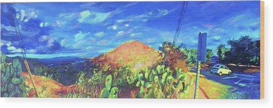 Pause On Mulholland Drive Wood Print