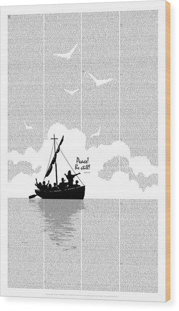 Wood Print featuring the digital art Peace Be Still by Clint Hansen
