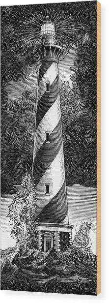 Wood Print featuring the drawing Peace In The Storm by Clint Hansen