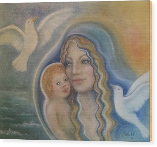 Peace Mother Wood Print