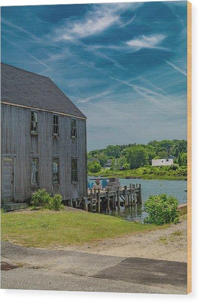 Peaceful View Near Kennebunkport Wood Print