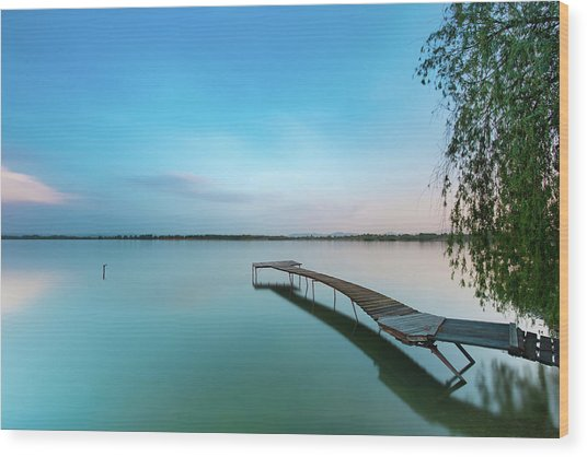 Peacefull Waters Wood Print
