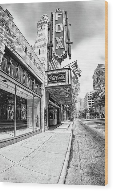 Peachtree Street And The Fox Theatre - Atlanta Wood Print