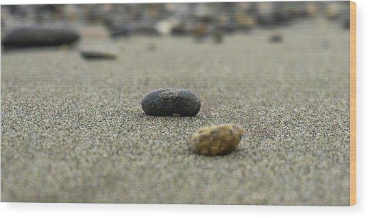 Pebbles On The Beach Wood Print