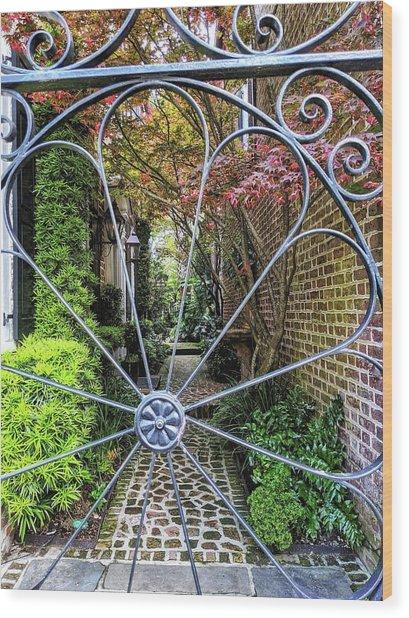 Peek-a-boo Garden Wood Print