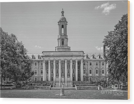 Penn State Old Main  Wood Print